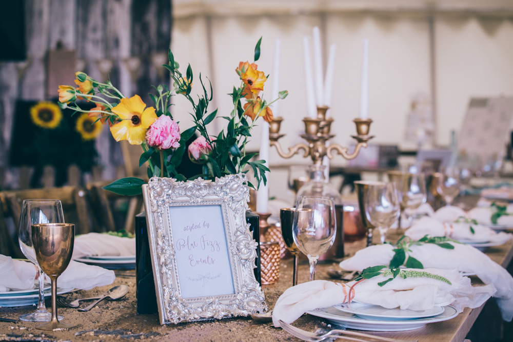 wedding styling at Bridwell Park