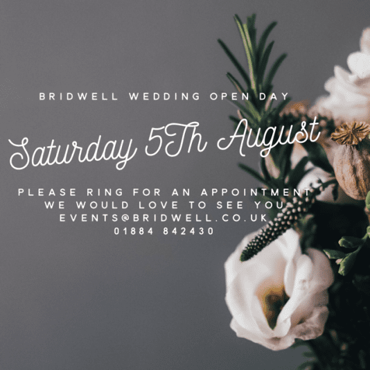 Wedding Open Day at Bridwell